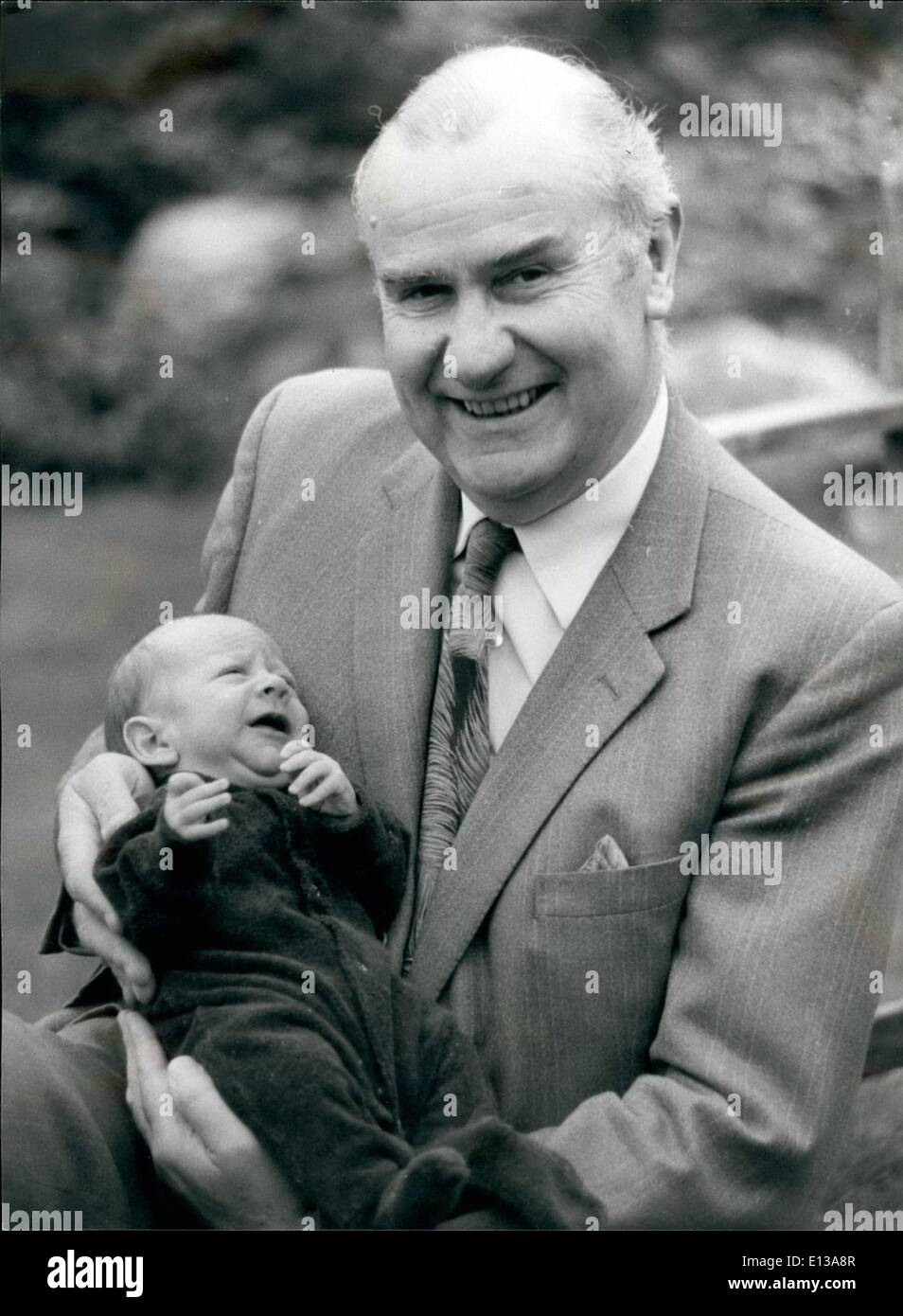 Feb. 29, 2012 - The Lord Mayor elect with his grandson, Thomas Edward. - Stock Image