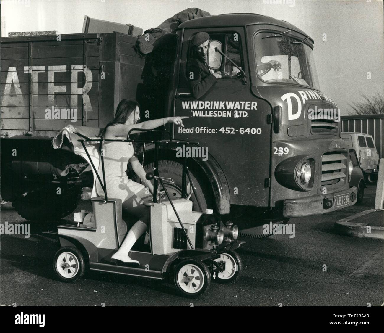 Feb. 29, 2012 - Amusement Trades Exhibition - A Petrol Driven Model Vintage Car For Children: Export buyers from - Stock Image