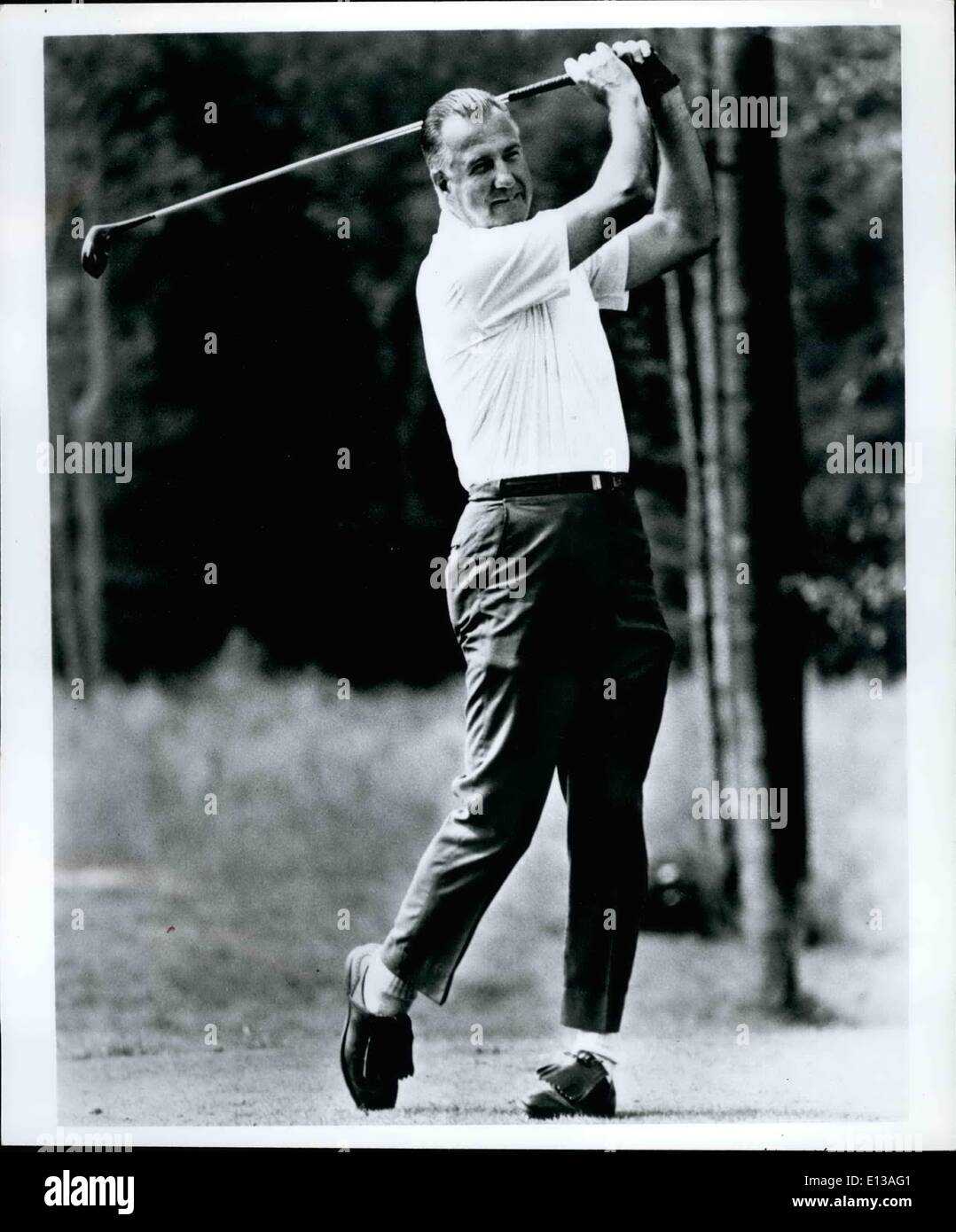 Feb. 29, 2012 - 31. when he has time for relaxation, Spiro Agnew enjoys a round of golf. He is an avid reader of History and Historical fiction and enjoys listening to semi-classical music. - Stock Image