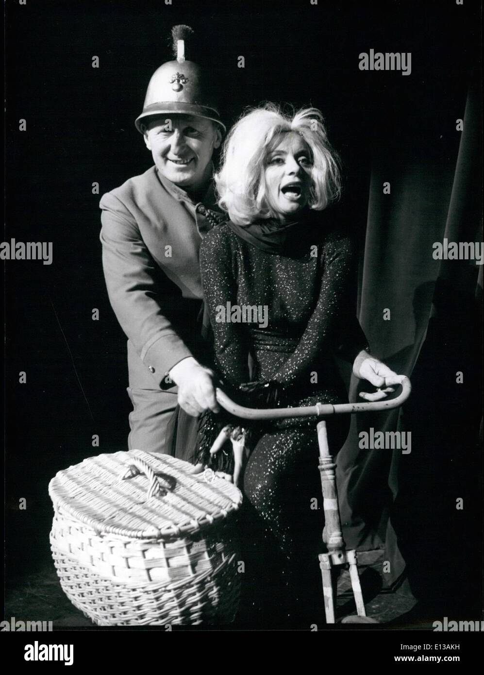 Feb. 29, 2012 - Annie Cordy, Bourvil rehearse for new musical. Annie Cordy, and Bourvil, the famous comedian couple, Stock Photo