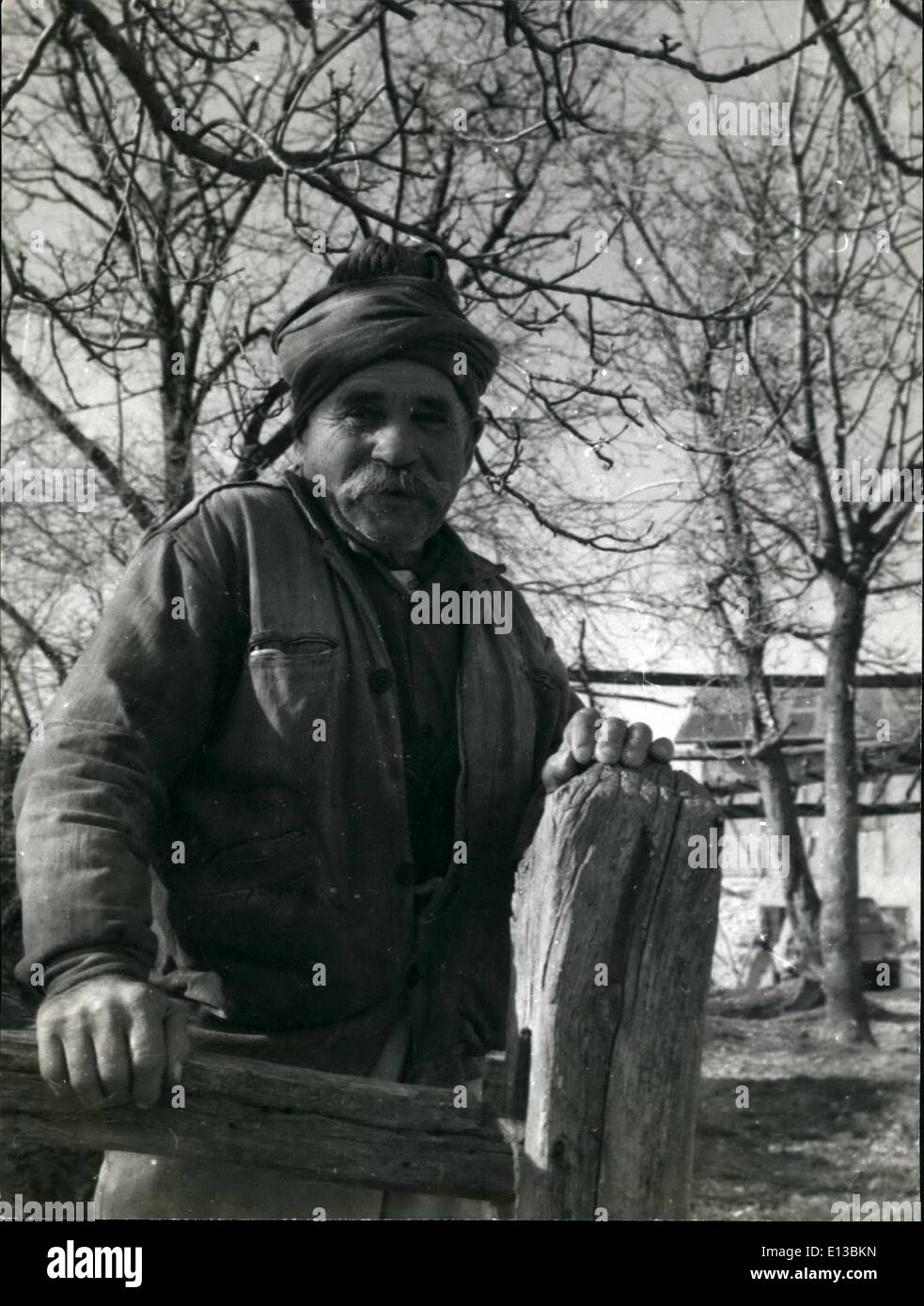 Feb. 29, 2012 - Polonezkoy, ''Poland-In-Turkey'': Septuagenarian Pole Marian Dohoda, descendent of 19th century Polish freedom fighters who founded ''Poland-in-Turkey'' near Istanbul, stands under the walnut trees of his ancestral acres at Polonezkoy. He remembers when the young men of his village rode out to hunt bears in the forests around the village. Today men -and women too- still hunt savage wild boar roaming the heathland that surrounds Polonezkoy's fertile farms and orchards. - Stock Image