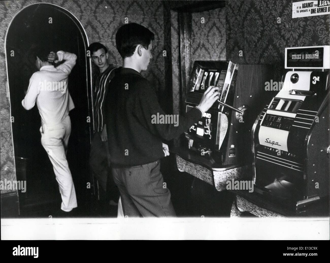 Mar. 02, 2012 - Fruit machines slake thirst for gambling and thrills of chance. APRESS - Stock Image