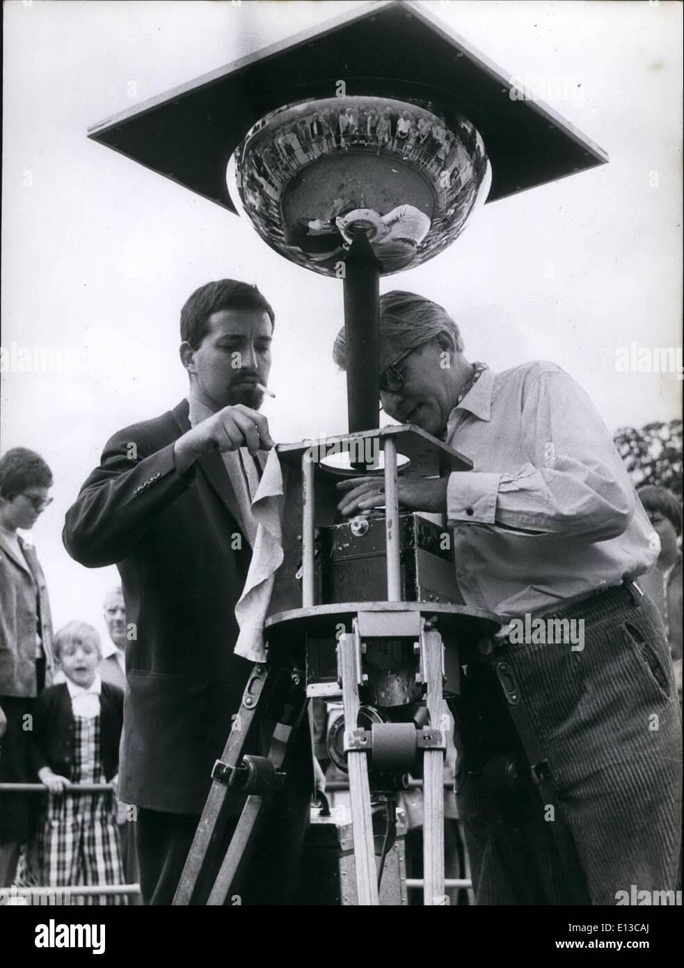 Feb. 29, 2012 - Cinema of the future: Cinetarium: The hemisphere is fastened above the camera. - Stock Image
