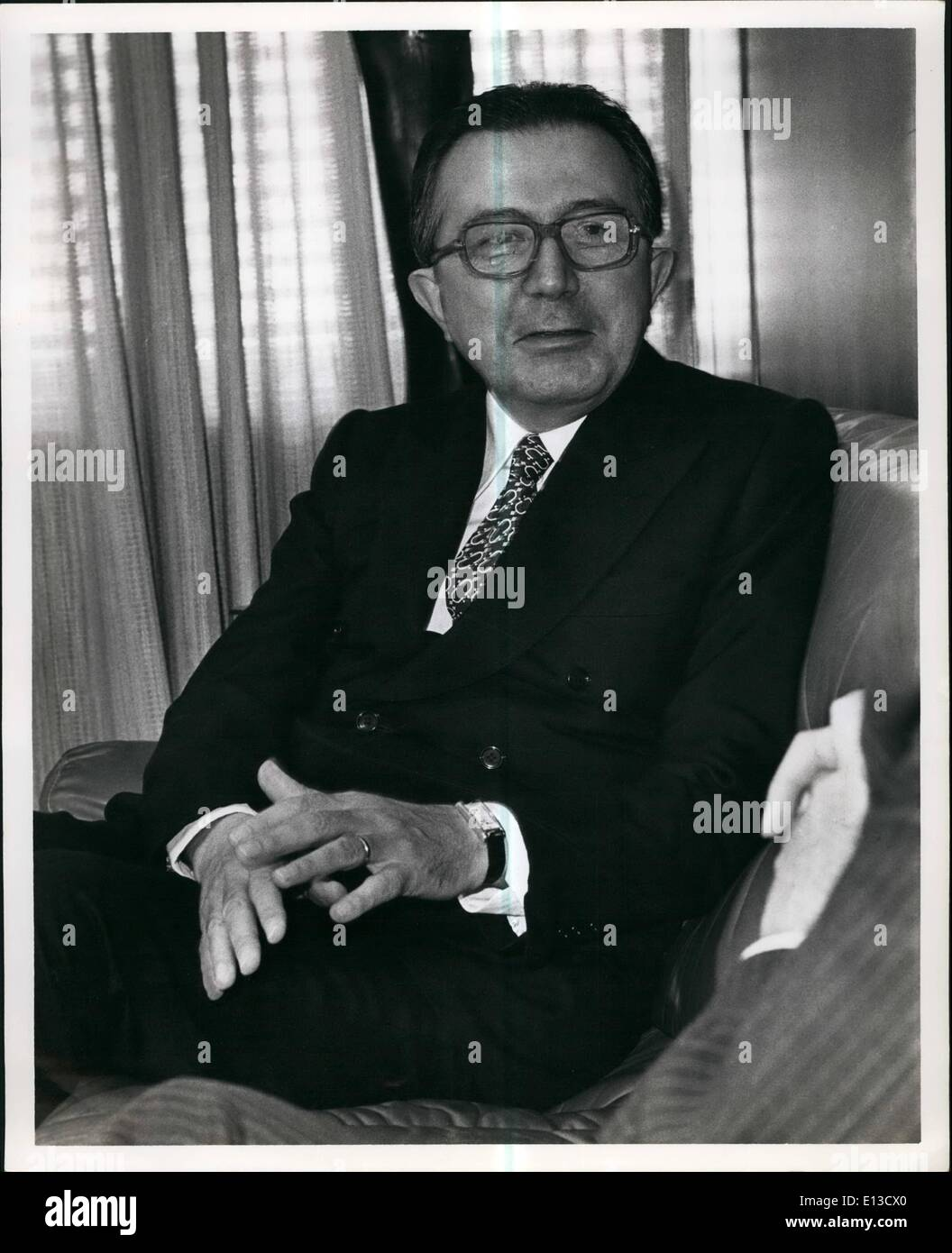 Feb. 29, 2012 - Italian Premier Giulio Andreott - Stock Image