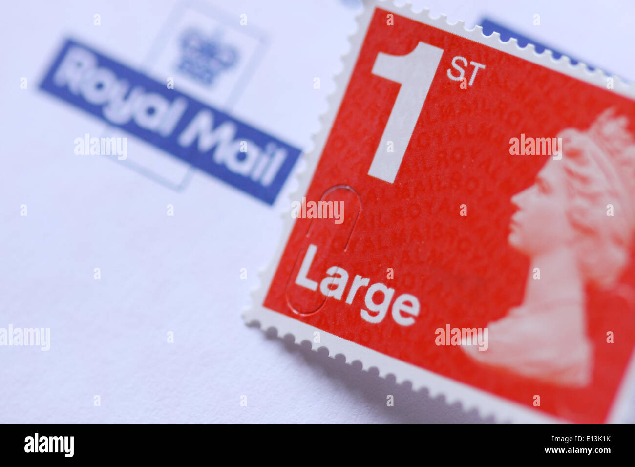 Royal Mail Large first class stamp - Stock Image