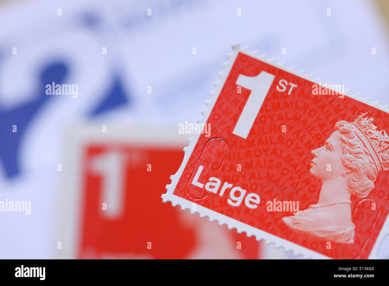 Royal Mail 1st first class Large stamp - Stock Image