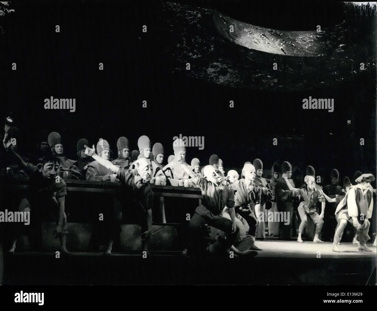 Mar. 02, 2012 - A Revolutionary ''Damnation of Faust'' presented at the Paris Opera. The Opera de Paris decided Stock Photo