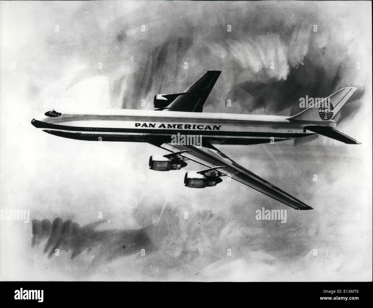 Mar. 22, 2012 - Artist's Impression Of The New Giant Airliner - Stock Image