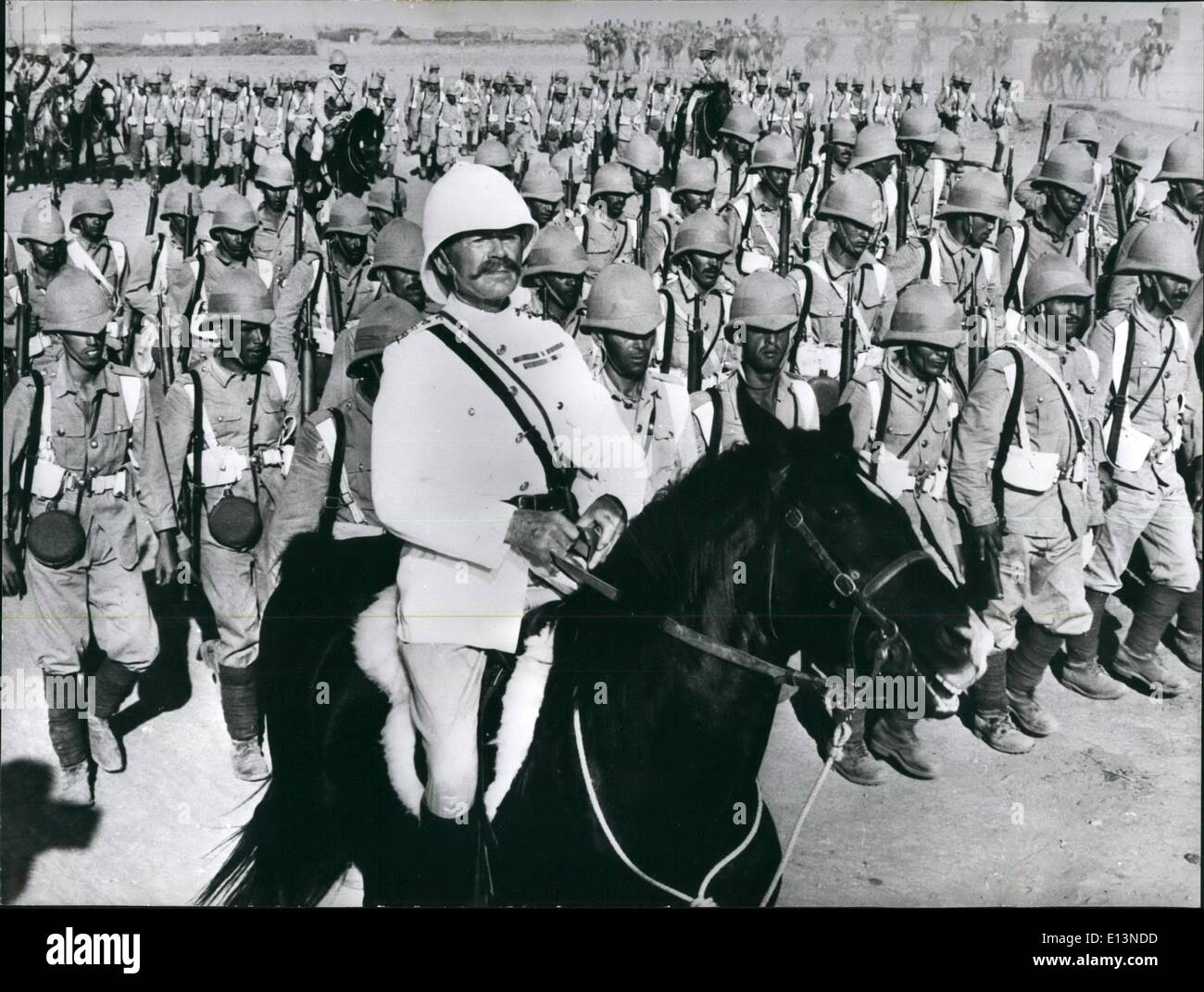 Mar. 22, 2012 - Into Battle With Simon Ward As ''Young Winston'': In the September 1898 Battle of Omdurman, in the Stock Photo
