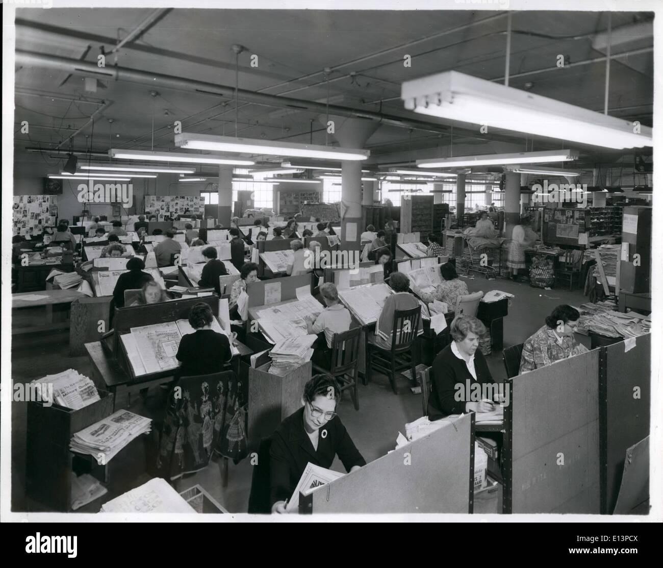 Mar. 22, 2012 - Romeike Press Clippings since 1881 - Staten Island, New York - Stock Image