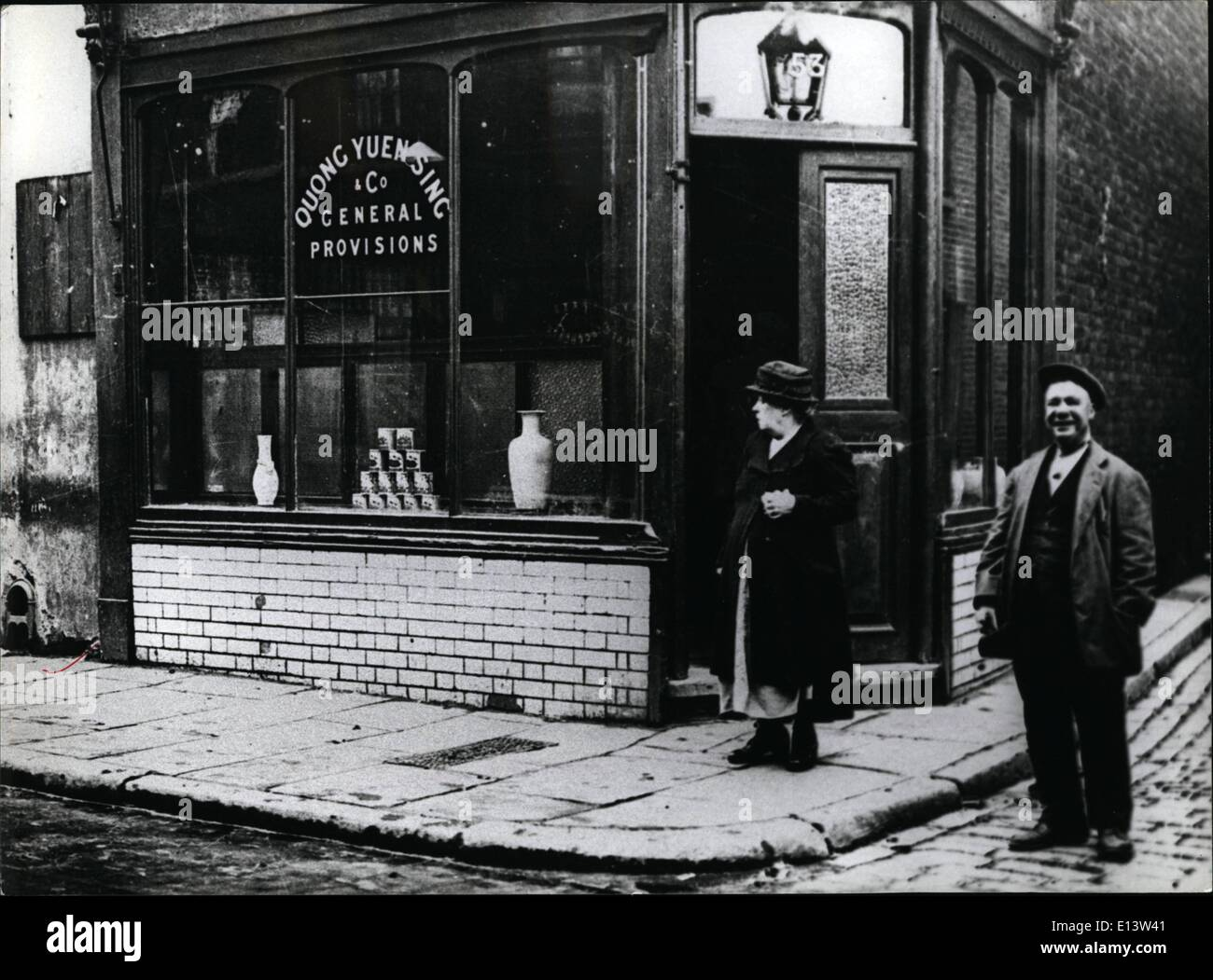 Mar. 27, 2012 - London In The Twenties: Chinese shop in Pennyfields, East London. - Stock Image