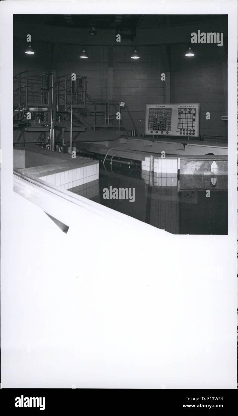 Mar. 27, 2012 - Israel Atomic reactor (Civilian) intention slurring the pool. APRESS.c - Stock Image