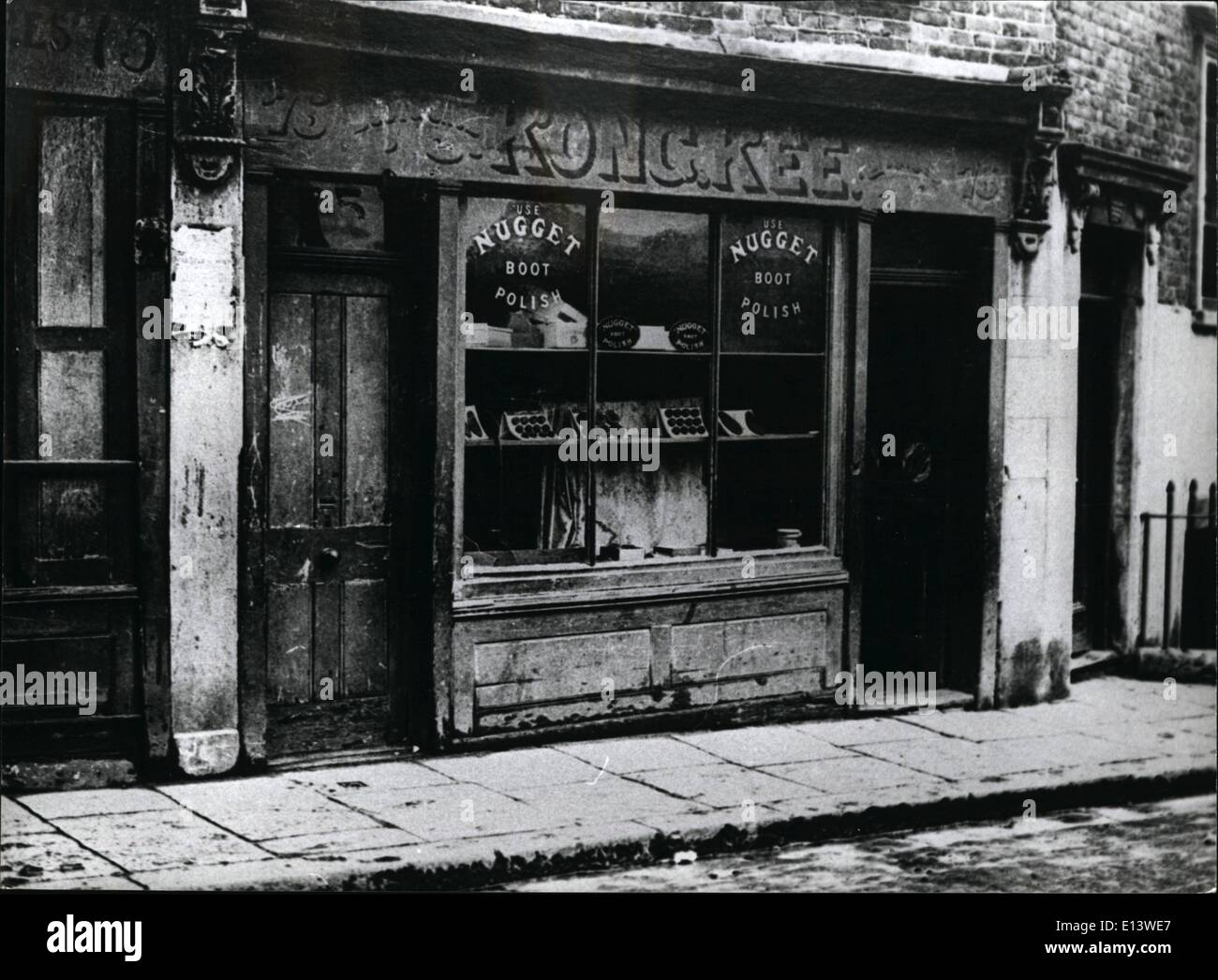 Mar. 27, 2012 - London in the Twenties; Chinese shop in Pennyfields, East London. E - Stock Image