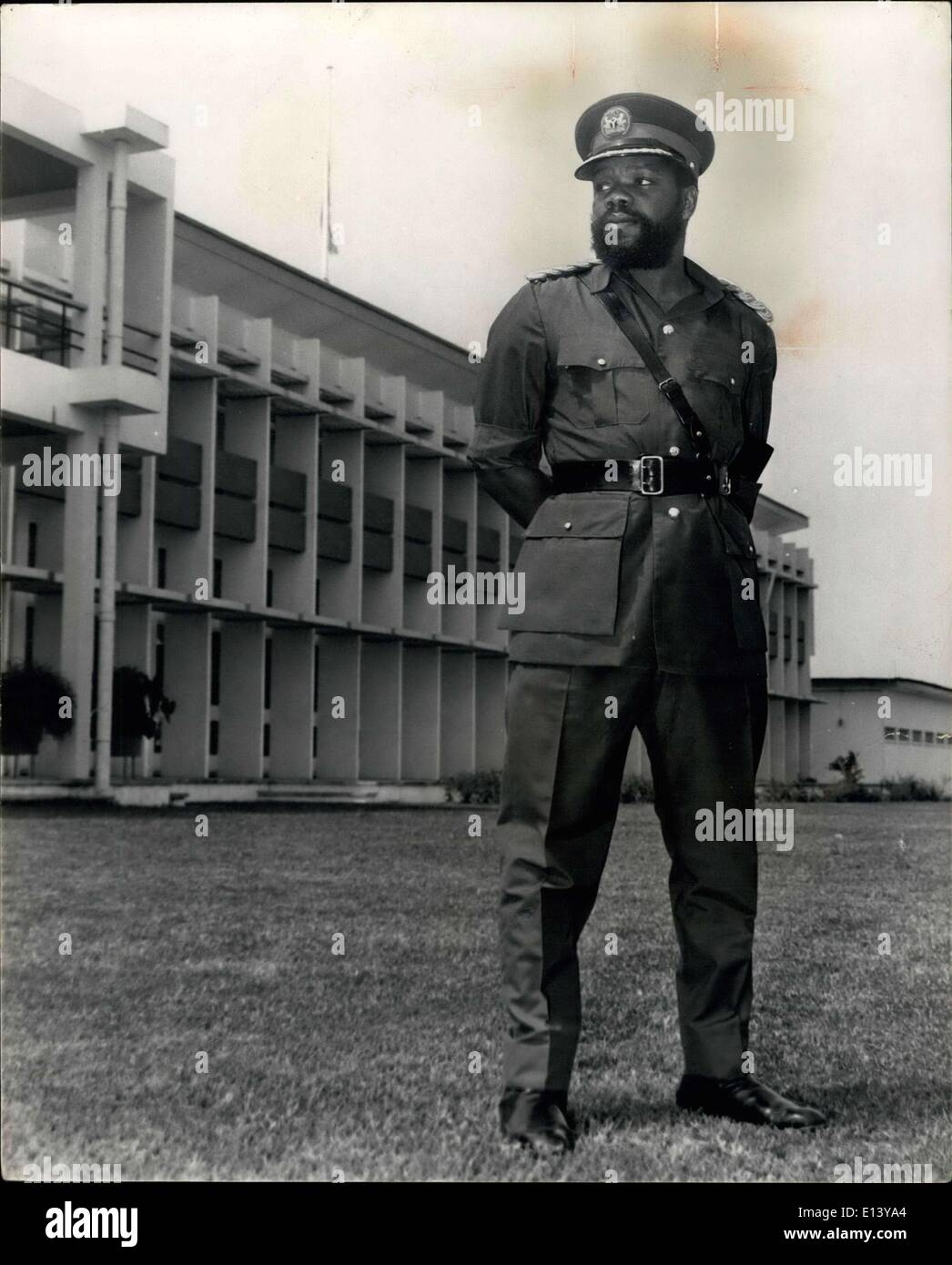 Mar. 31, 2012 - Eastern Nigiria's Military Governor - A Portrait: Liftnant - Colonel Odumfgmu Ojuku born 1933 received his ea - Stock Image