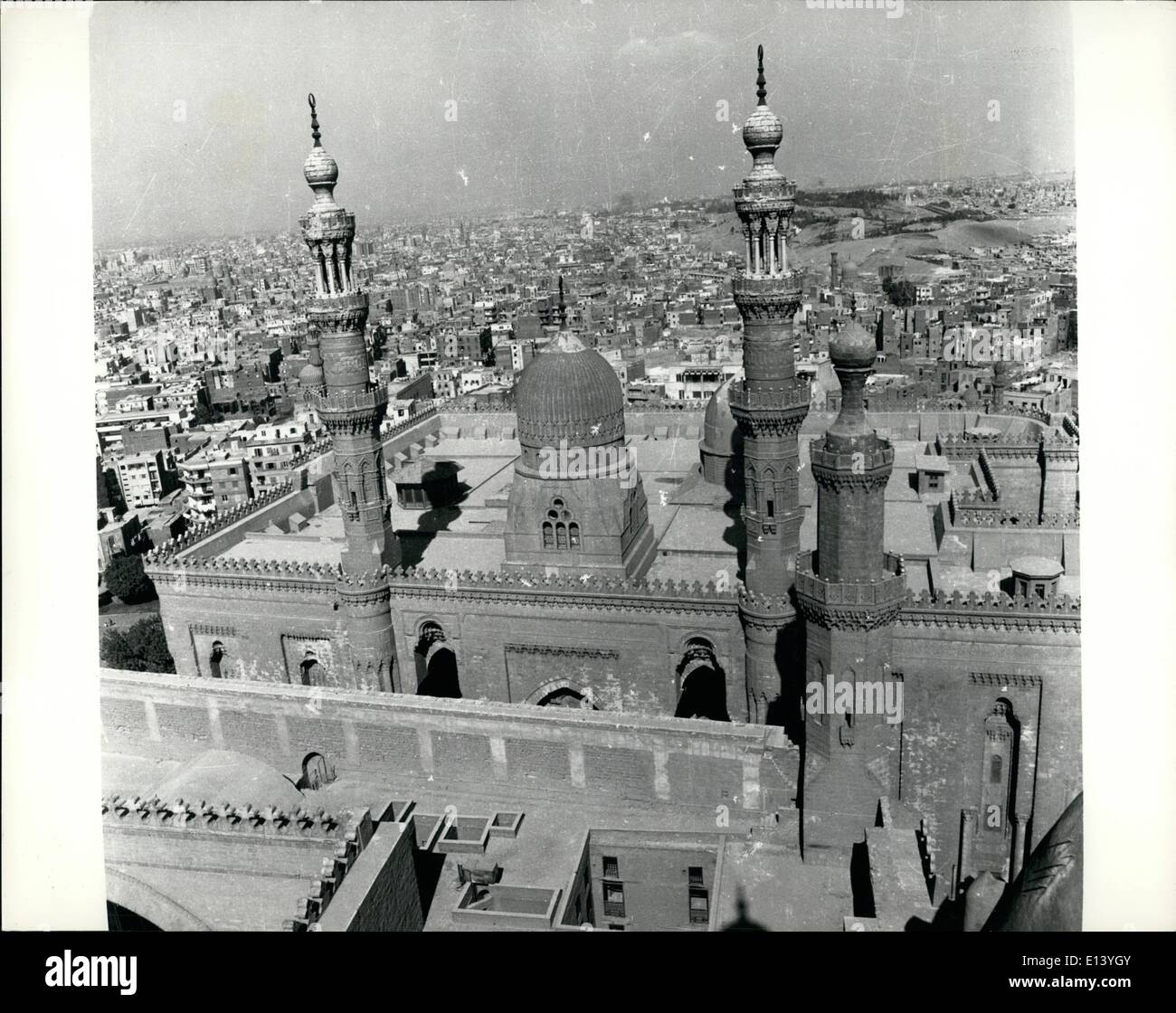 Mar. 27, 2012 - Al-Azhar University, Cairo The Resplendent - stronghold of Islam - lies in the heat of Cairo. It is surrounded by the old popular quarters of the city. - Stock Image
