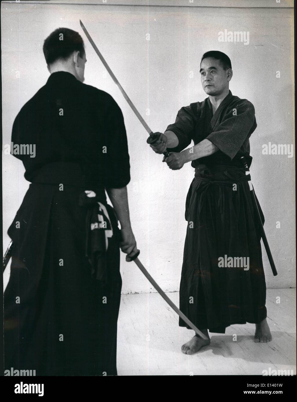 Mar. 27, 2012 - Anyone for Kendo? The world's most exclusive - and most Dangerous Sport: Japanese master-workingman - Stock Image