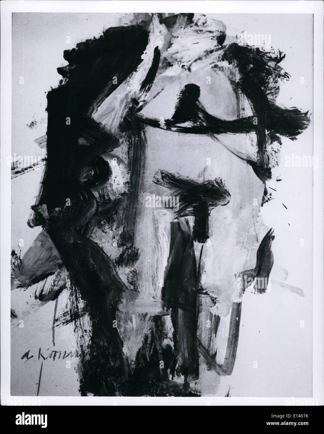 Mar. 27, 2012 - 15-23: Woman VIII, an abstract by William Dekooning. 68-1209 ESS. - Stock Image