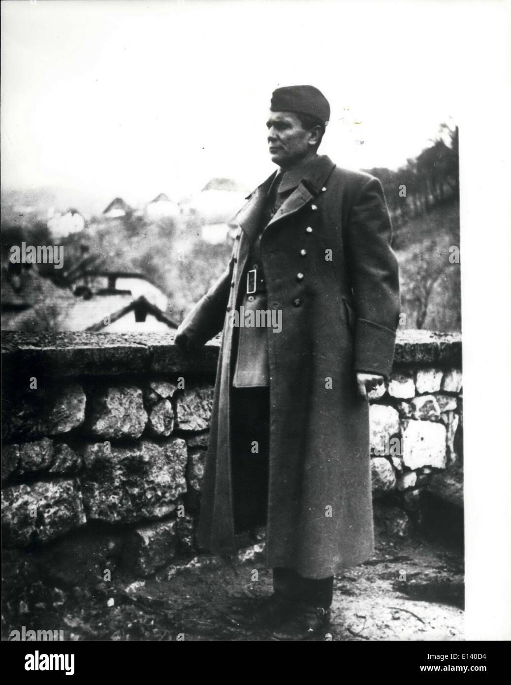Mar. 31, 2012 - Josip Bros Tito, as he was known in 1943, seen on the even of the Second session of the anti-Fascist Stock Photo