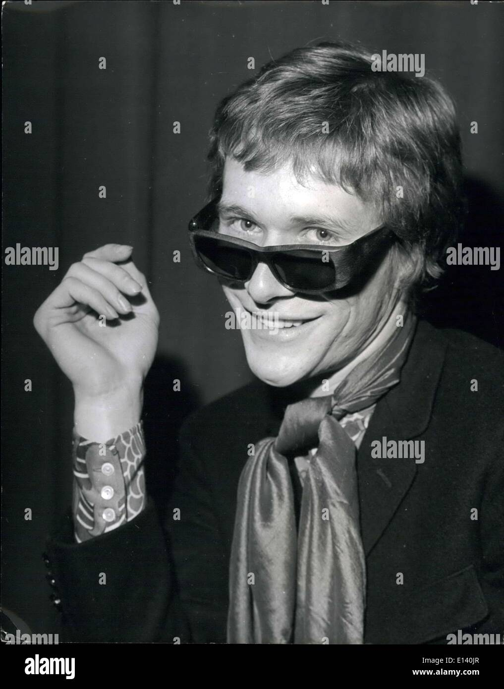 Mar. 31, 2012 - THE SUN SHINES FOR PAUL JONES. When he announced his intention of leaving the highly successful Manfredd Mann group in 1966, people thought they'd heard the last of singer Paul Jones. But they were wrong - for with hit records, a film, ' Privilege ' which also starred top model Jean Shrimpton - and much television work - including a play - Paul has proved that it has been worth his while to widen his professional interests. And now it looks like he's about to hit the charts once again with his latest single 'And the Sun will shine' - Stock Image