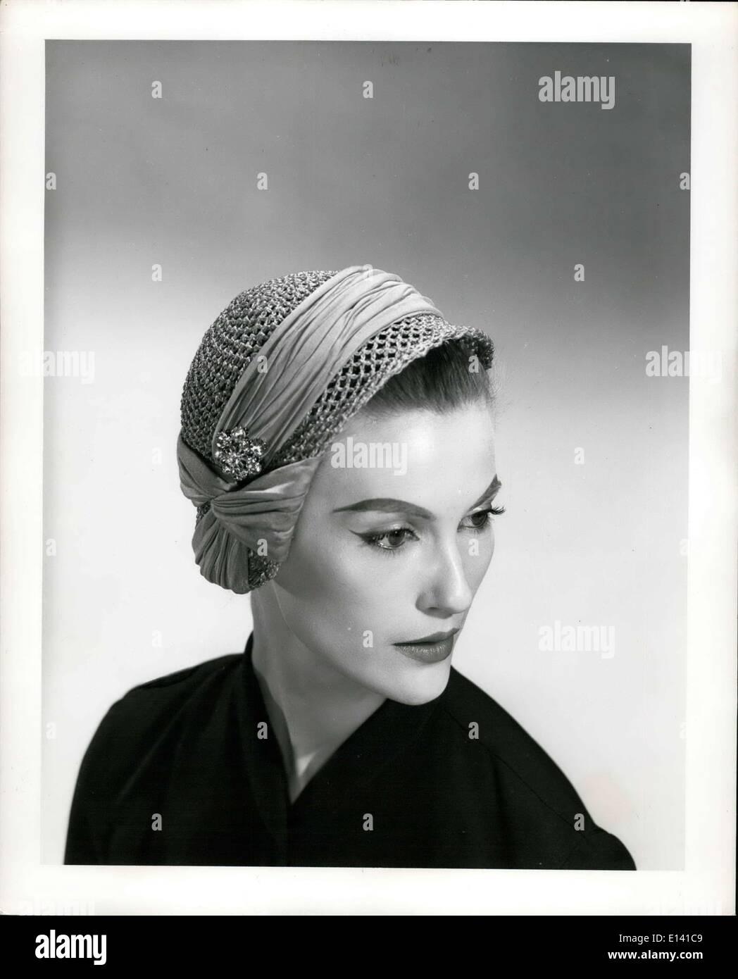 Mar. 31, 2012 - John Frederics Cloche hat 1954 - Stock Image