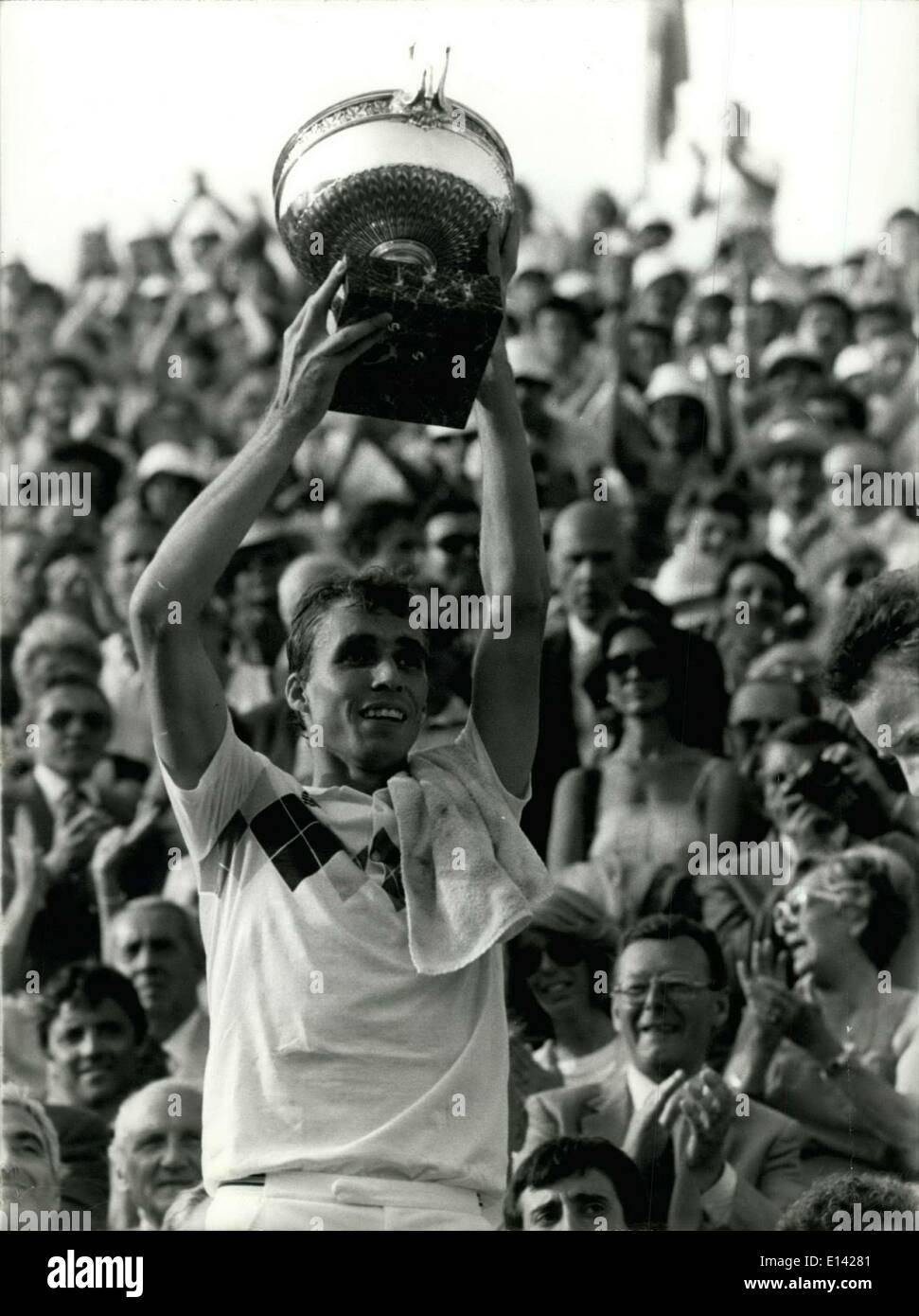 Mar. 31, 2012 - Ivan Lendl wins 1984 French open. Stock Photo