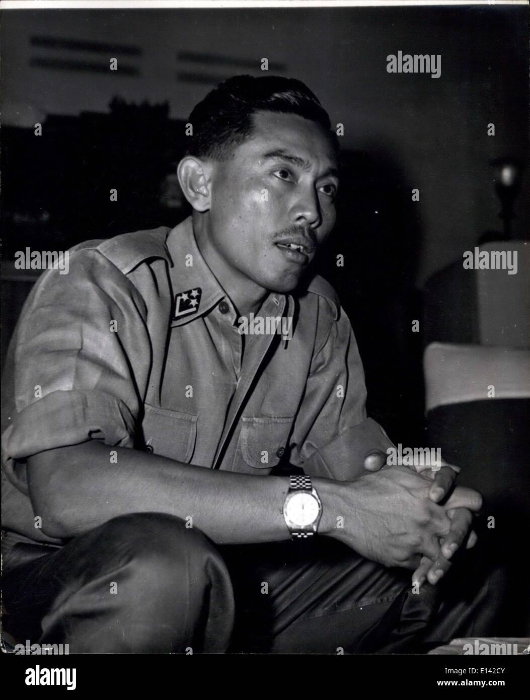 Apr. 04, 2012 - Col. Yani, aged 38 who is in charge of the campaign against the Sumatran rebels and led the landing at Padang. Considered to be one of the most brilliant young officers in Indonesia, he was trained in both Britain and America. - Stock Image