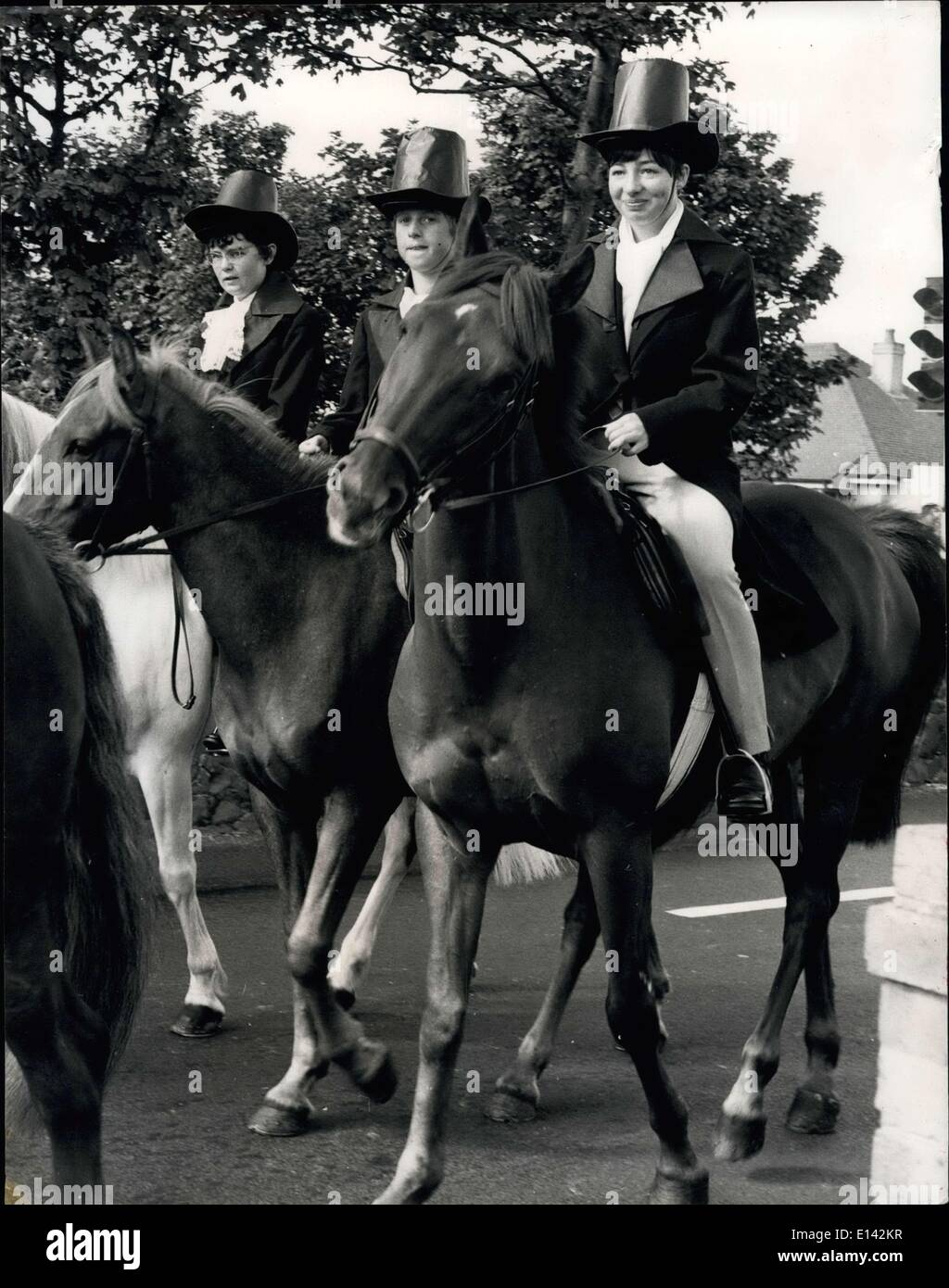 Mar. 31, 2012 - Riders representing officers of the feudal court of St. Michel and King's officers.  Pi - Stock Image