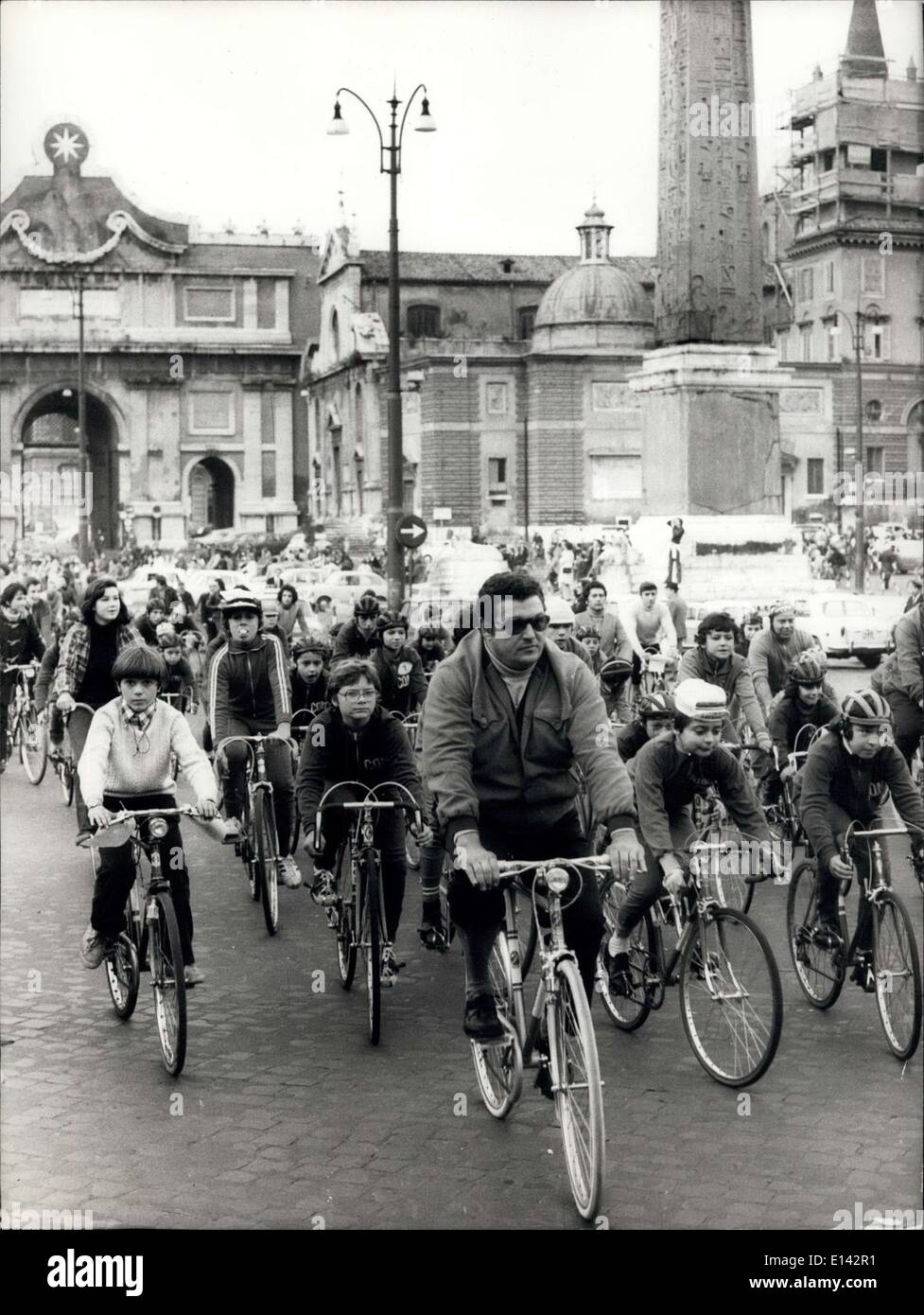 Apr. 04, 2012 - Bicycle march though Rome organized by 'Kronos 1991, to protest against - Stock Image