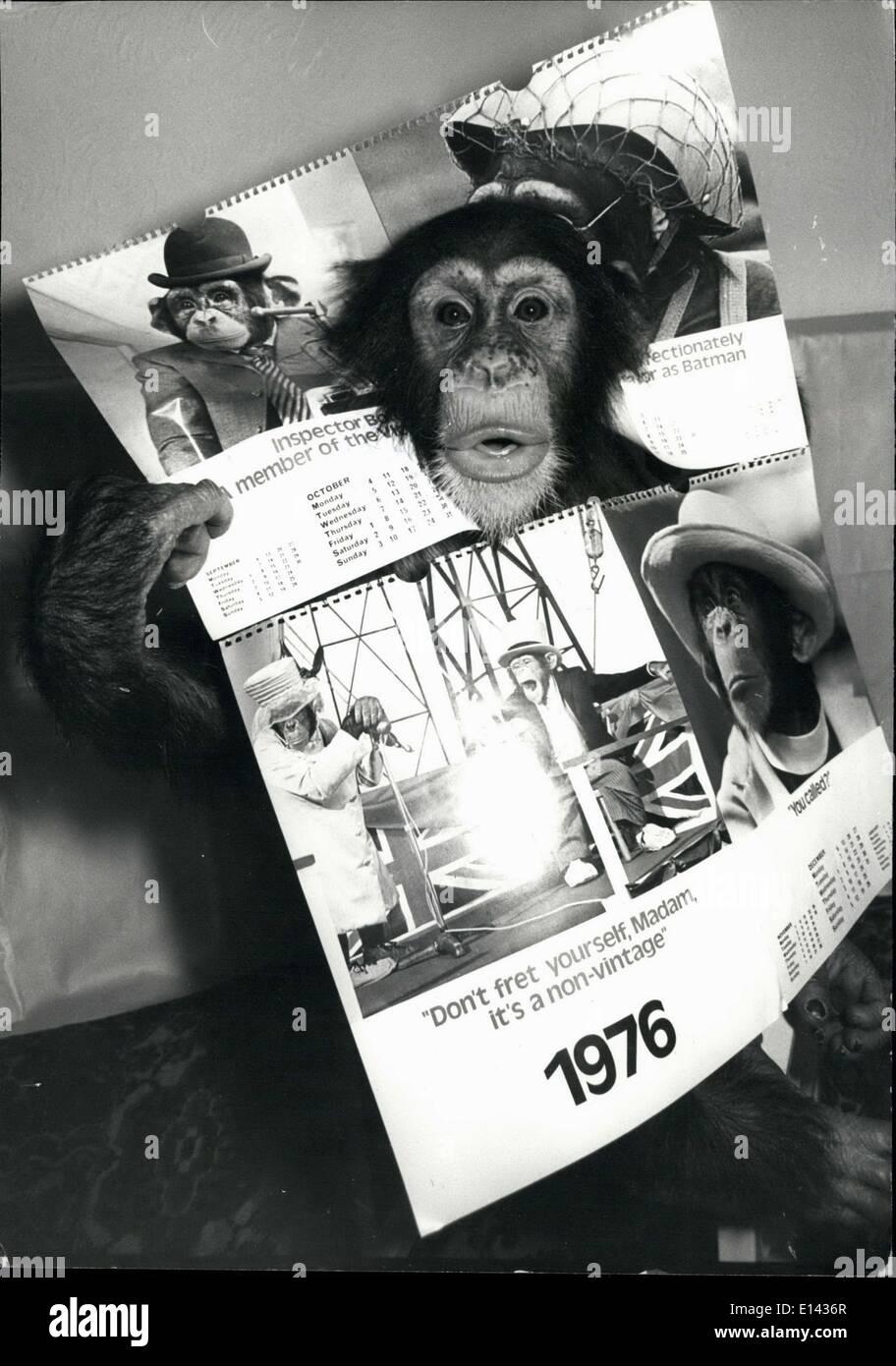 Calendario 1976.Noddy Choppers Calendar For 1976 Stock Photos Noddy