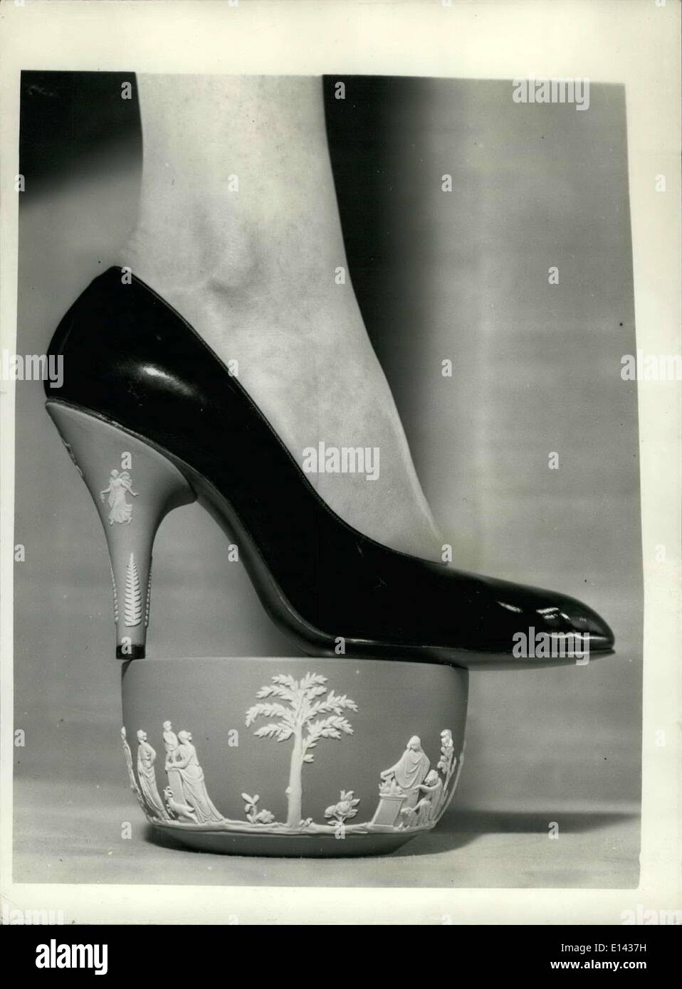Mar. 31, 2012 - Spring shoes by Rayne. The 'Wedgwood'' collection for export.: Mr. Edward Rayne the famous London show designer - Stock Image