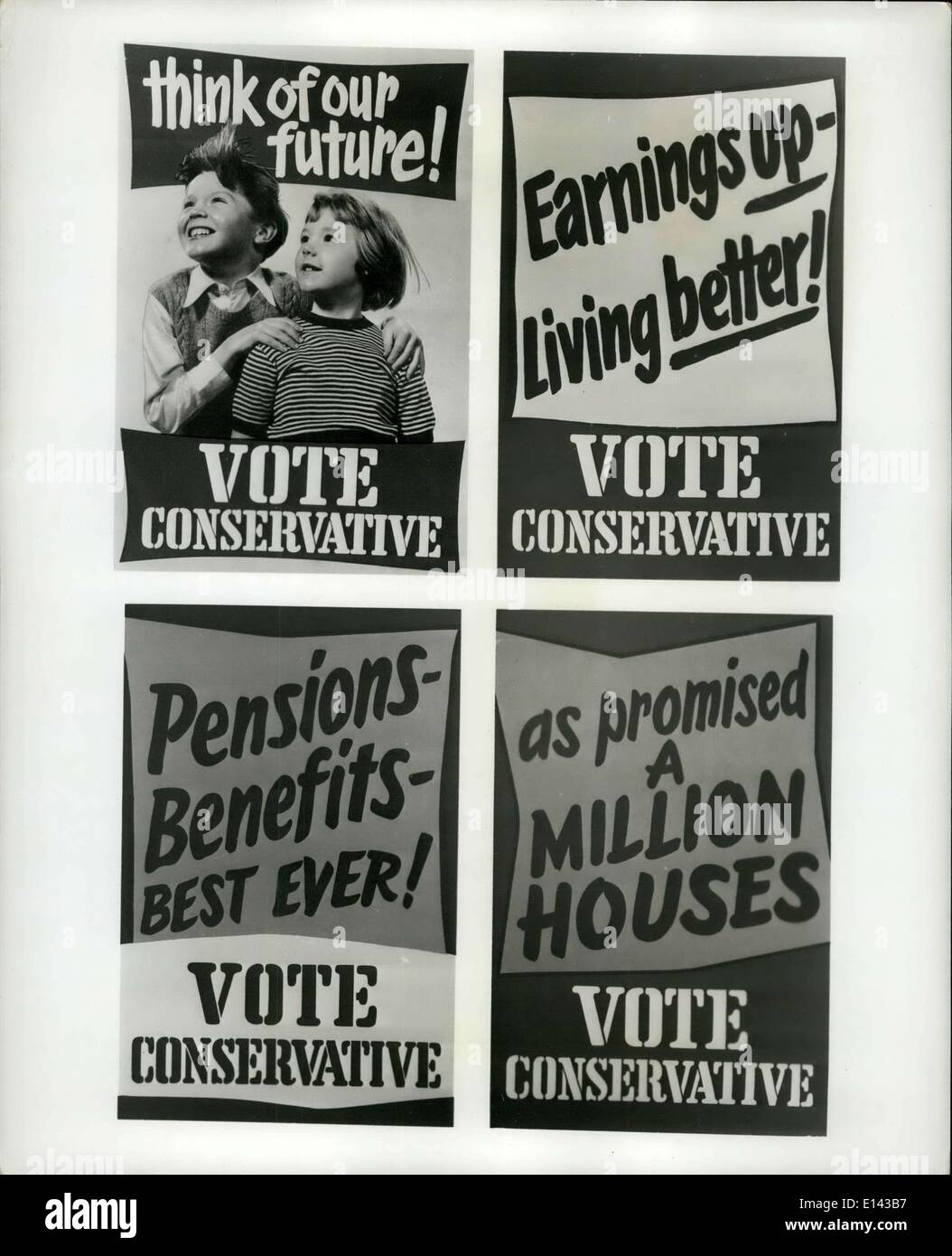Apr. 04, 2012 - Party Posters: On Thursday May 26th the British people choose their rulers in a General Election. 630 seats in - Stock Image