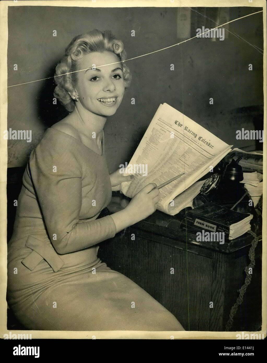 Apr. 04, 2012 - Photo Shows: Jo Ann Matthews the blonde bookmaker. - Stock Image