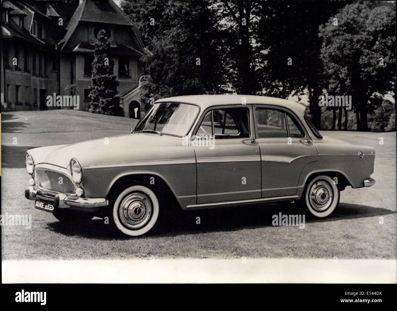 Apr. 04, 2012 - Simca Society Will ate a New Car Succeeding to the Previous ''Aronie'' It is Called ''p.60' Stock Photo