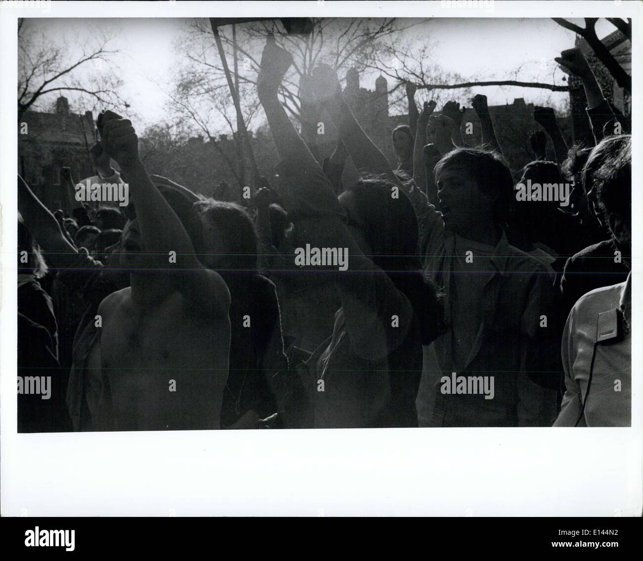 Apr. 04, 2012 - Demonstrators for the Liberator of the Panthers and against the Indonesia war at the New Haven Green - Stock Image