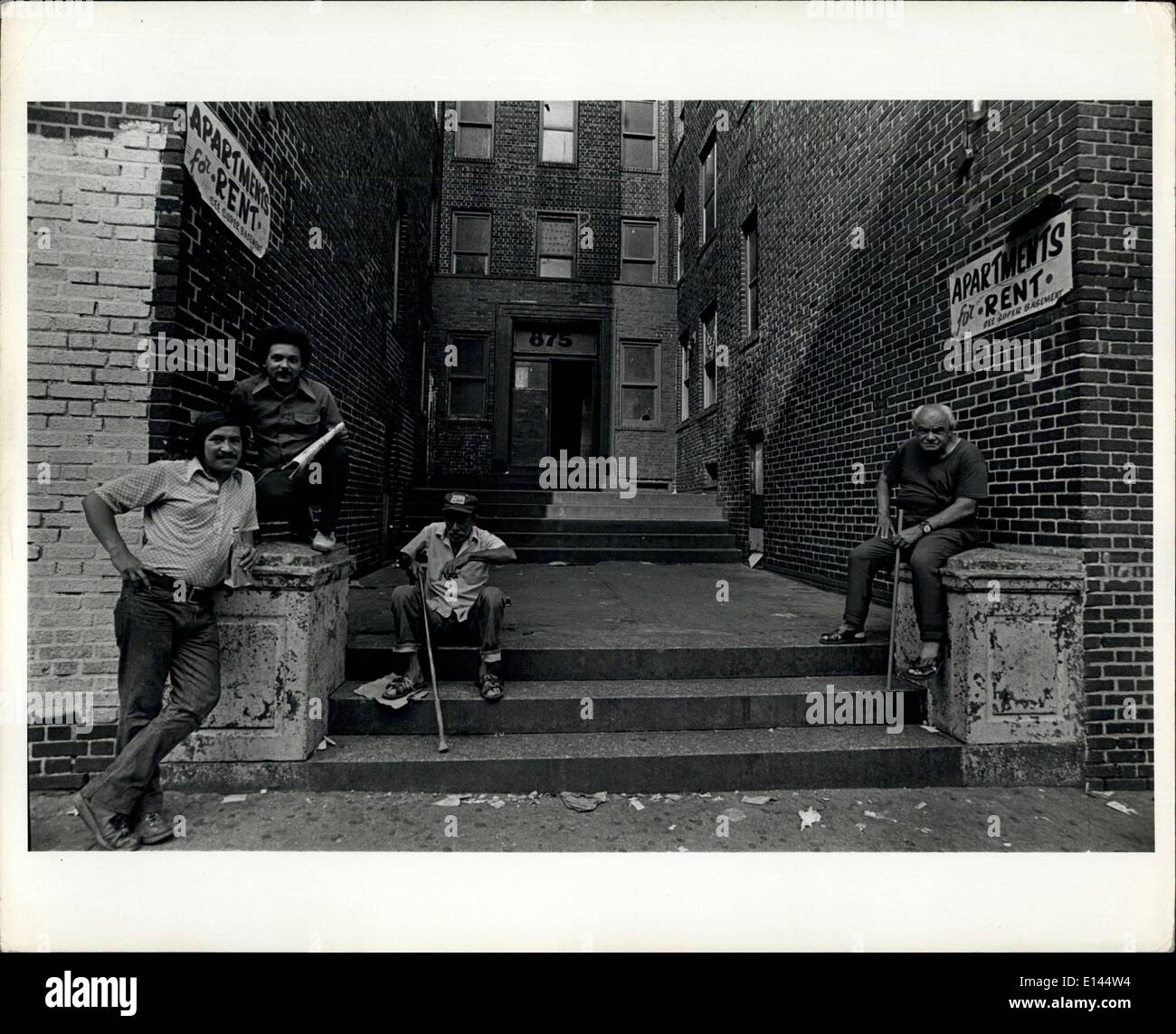 Apr. 04, 2012 - South Bronx - they have nothing to do. - Stock Image