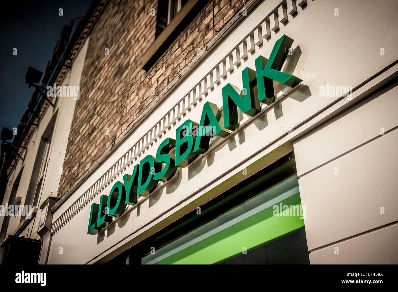 Lloyds bank sign - Stock Image