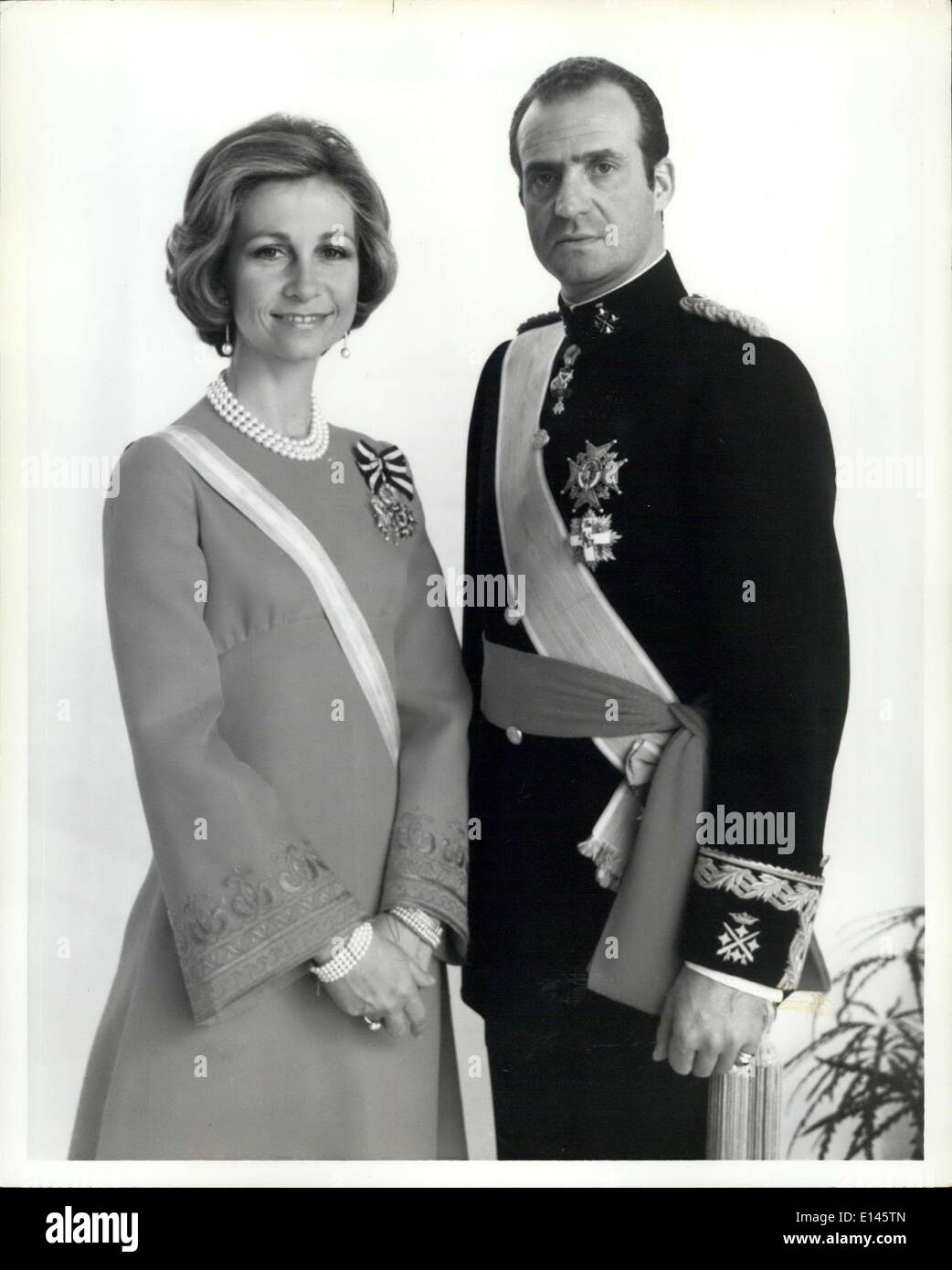 Apr. 05, 2012 - Spanish Monarchs to visit the U.S: King Juan Carlos I and Queen Sofia will be guests of President Ford during a - Stock Image