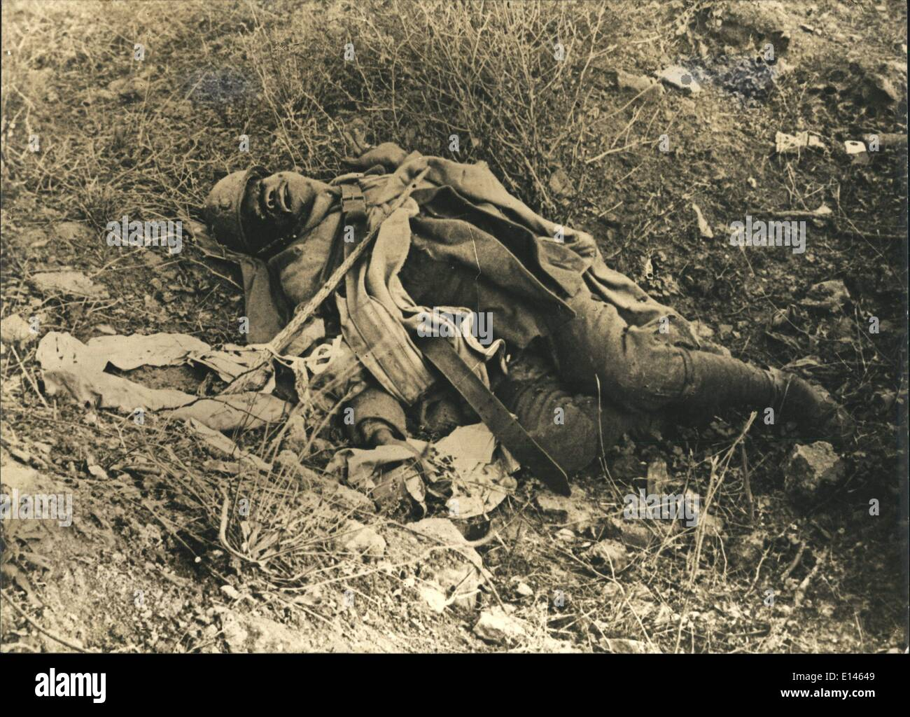 Apr. 16, 2012 - He was from the 67th regiment. the battle of Verdun was the longest in WWI (Wikipedia). Renaud Playing - Stock Image