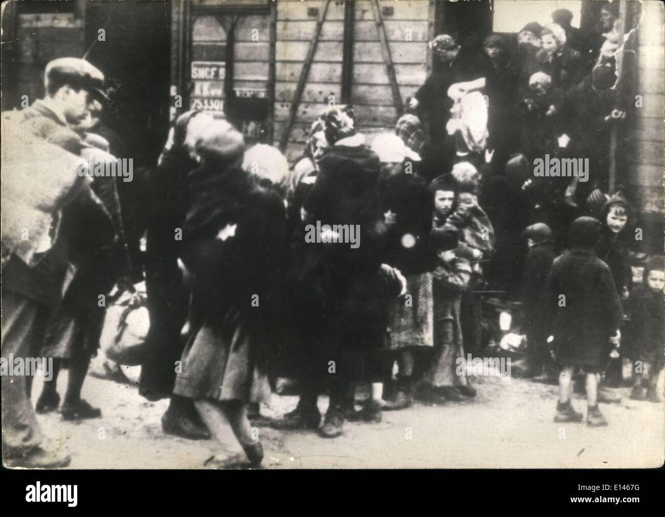 Apr. 16, 2012 - Auschwitz. - Stock Image