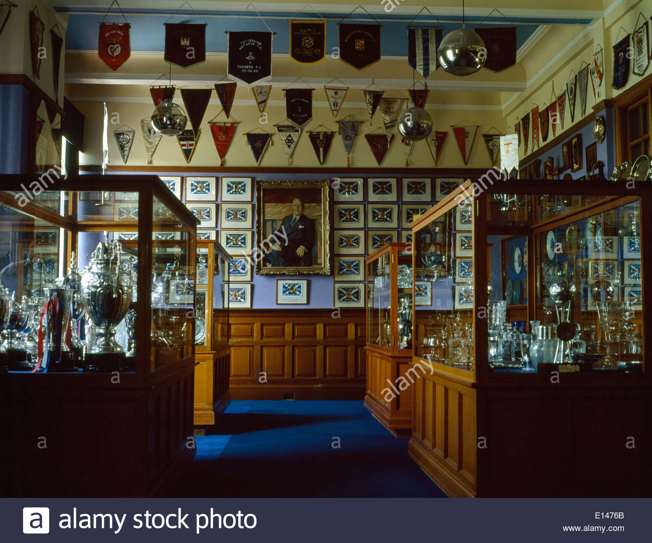 The Regal Trophy Room At Ibrox, Home Of Glasgow Rangers Football Club,  Scotland.