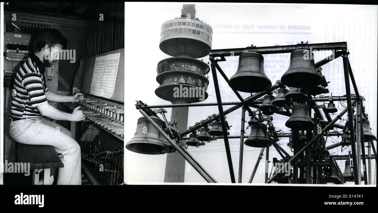 Apr. 16, 2012 - Carillon At Olympic Park In Munich/ West Germany: ''Rung in'': was now in the Munich Olympia-Park Stock Photo