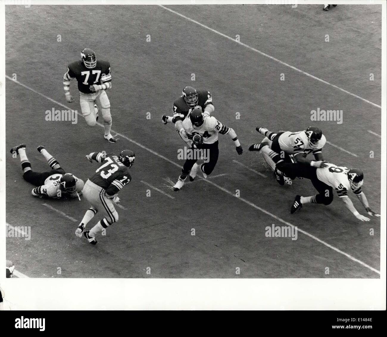 Apr. 17, 2012 - Canada Grey Cup Football Game. 1971. - Stock Image
