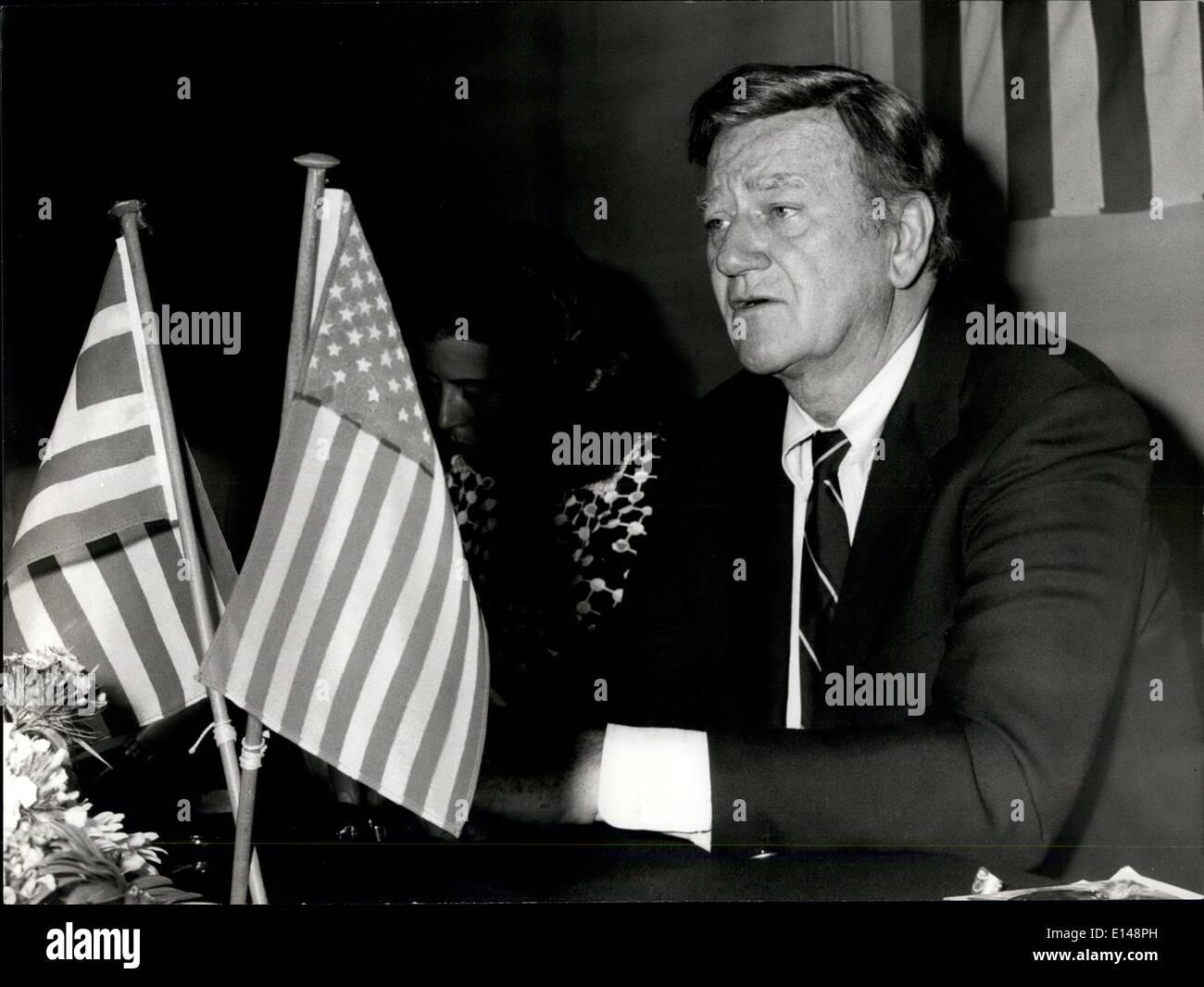 Apr. 17, 2012 - John Wayne - Stock Image