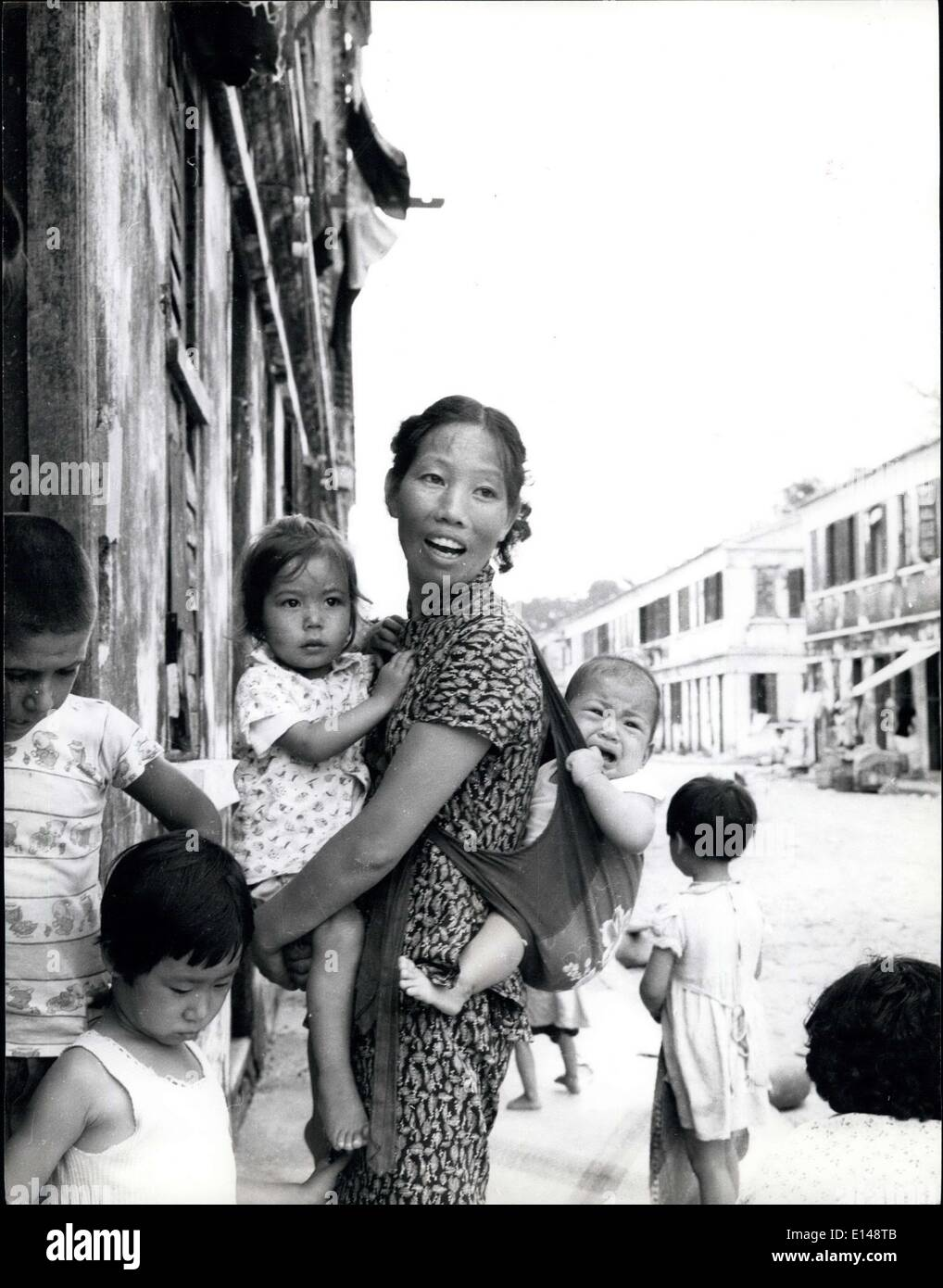 Apr. 17, 2012 - Family life carries on whatever the political tensions in Macao. ES - Stock Image