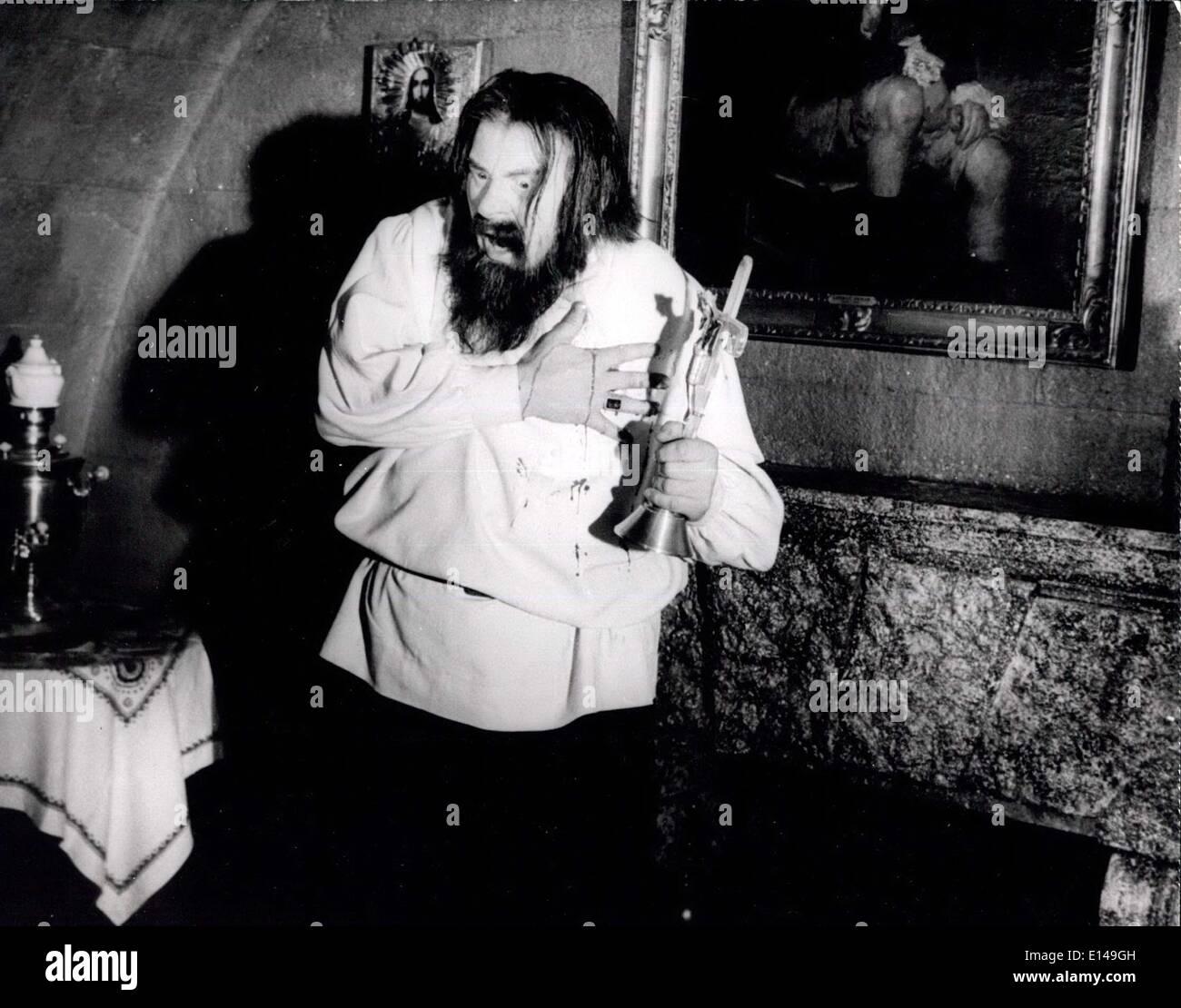 Apr. 17, 2012 - Rasputin Played by Gert Froebe - Stock Image