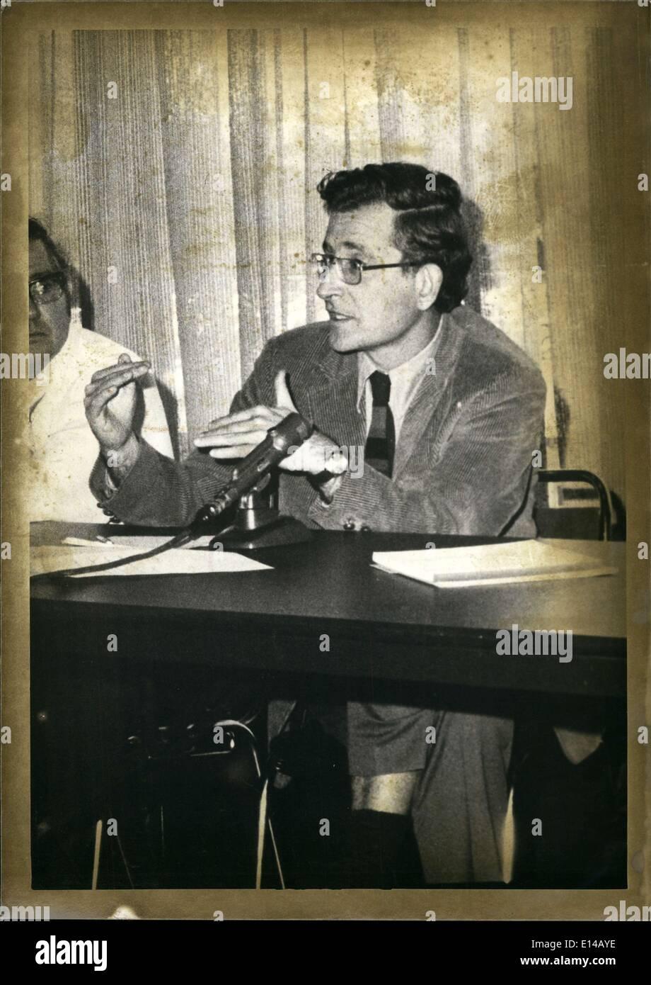 Apr. 17, 2012 - Dr.Noam A.Chomsky : Prof. of modern Languages  Languagisties MIT. - Stock Image