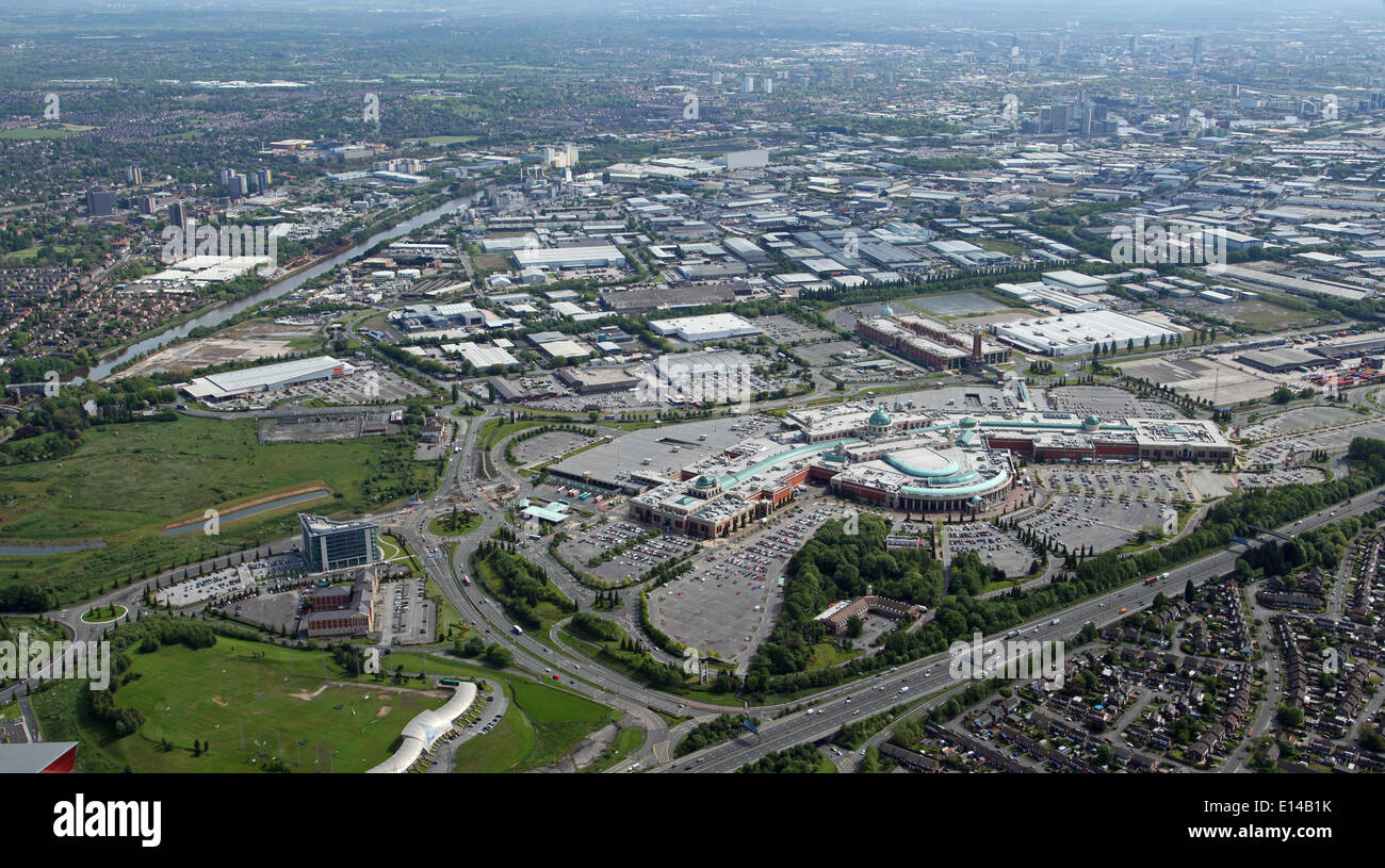 aerial view of The Trafford Centre and Leisure Complex in Manchester - Stock Image