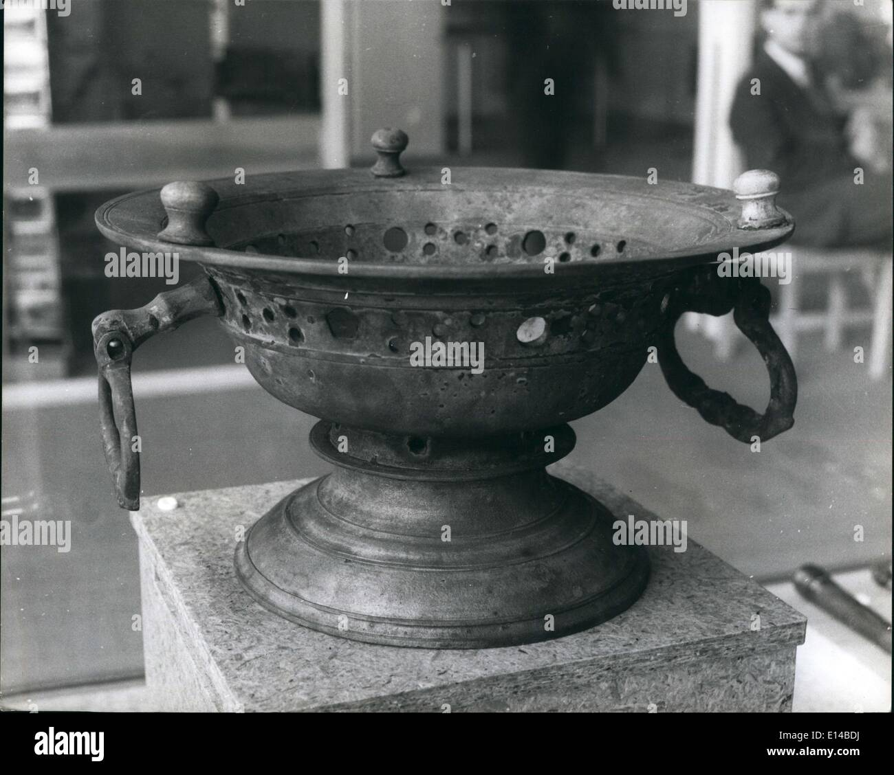 Apr. 17, 2012 - Pewter Bowl - in perfect condition, rescued from the sea bed with Vasa. - Stock Image
