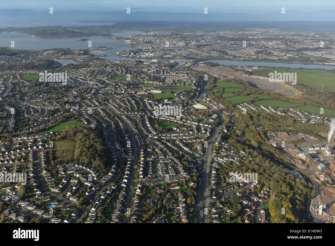 Aerial photograph of Plymouth - Stock Image