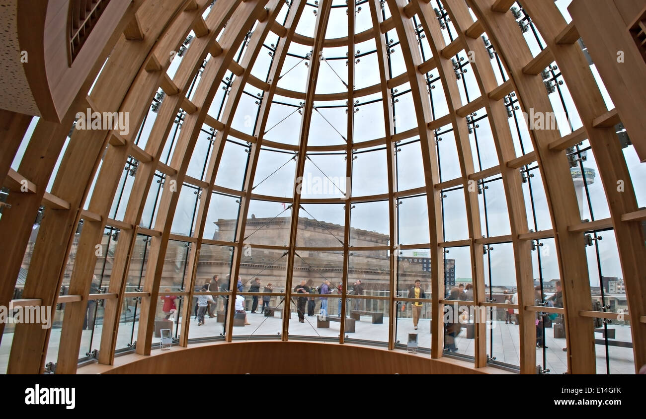 View through domed roof of Liverpool Central Library Stock Photo